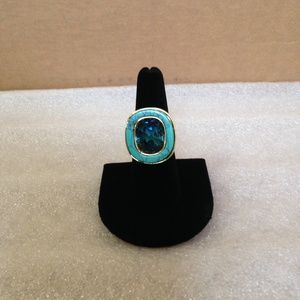 London Blue/Turquoise - Fashion Ring